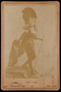 Non-Sport Cards:Singles (Pre-1950), 1890's N566 Newsboy Cabinet Mademoiselle Naya #508...