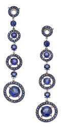 Estate Jewelry:Earrings, Sapphire, Gold Earrings, Boucheron. ...