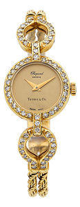 Estate Jewelry:Watches, Chopard Lady's Diamond, Gold Watch, retailed by Tiffany & Co.. ...