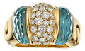 Estate Jewelry:Rings, Diamond, Aquamarine, Gold Ring, Bvlgari. ...