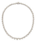 Estate Jewelry:Necklaces, Diamond, Platinum Necklace, Van Cleef & Arpels. ...