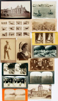 Books:Prints & Leaves, [Photography]. Mixed Lot of Fourteen Stereocards, Cabinet Cards andPhotographic Prints. Various publishers and dates. ...