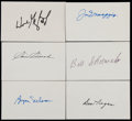 Miscellaneous Collectibles:General, Misc. Sports Greats Signed Index Cards Lot of 6....