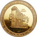 Casino and Gaming Tokens, 1988 El Cortez Hotel and Casino Chip, Gold Five Dollar, PR66 UltraCameo NGC....