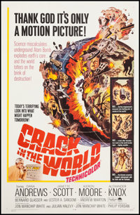 "Crack in the World (Paramount, 1965). One Sheet (27"" X 41""). Science Fiction"