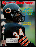 """Football Collectibles:Publications, Walter Payton Signed """"Sports Illustrated"""" Magazine...."""