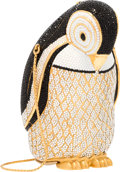 """Luxury Accessories:Accessories, Judith Leiber Full Bead Black & White Crystal PenguinMinaudiere Evening Bag. Very Good to Excellent Condition.3"""" Wid..."""
