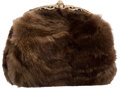 "Luxury Accessories:Bags, Judith Leiber Brown Mink Evening Bag. Excellent Condition.7.5"" Width x 6.5"" Height x 3"" Depth. ..."