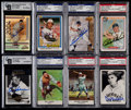 Baseball Cards:Lots, Signed 1960's-2000's Baseball HoFers Card Collection (8)....