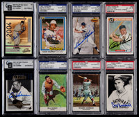 Signed 1960's-2000's Baseball HoFers Card Collection (8)