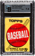 Baseball Cards:Singles (1960-1969), 1963 Topps Baseball 2nd/3rd Series 5-cent Wax Pack GAI NM+ 7.5....
