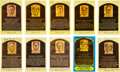 Baseball Collectibles:Others, 1970's-80's Signed Hall of Fame Postcards Lot of 51. ...