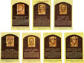 Baseball Collectibles:Others, 1970's-80's Baseball Hall of Famer Signed Postcards Lot of Sevenwith Paige. ...