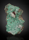 Minerals:Cabinet Specimens, Calcite with Malachite. Cole Shaft, 1300 Level, Bisbee, WarrenDistrict, Mule Mts, Cochise Co., Arizona, USA. ...