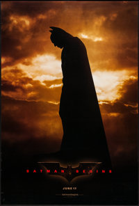 "Batman Begins (Warner Brothers, 2005). One Sheet (27"" X 40"") DS Advance. Action"
