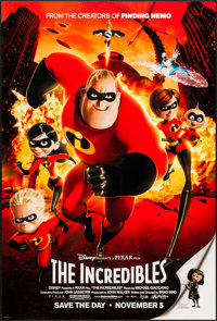 "The Incredibles (Buena Vista, 2004). One Sheet (27"" X 40"") DS Advance Action Style. Animation"