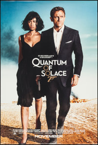 "Quantum of Solace (MGM, 2008). One Sheet (26.75"" X 39.75"") DS Advance. James Bond"