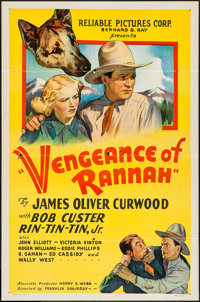 """Vengeance of Rannah (Reliable, 1936). One Sheet (27"""" X 41"""") Flat Folded. Western"""