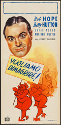 """Movie Posters:Musical, Let's Face It (Anglo American Film, Late 1940s). First Post-WarRelease Italian Locandina (13.25"""" X 27.25""""). Musical.. ..."""