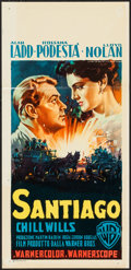 "Movie Posters:Adventure, Santiago (Warner Brothers, 1956). Italian Locandina (13.25"" X27.25""). Adventure.. ..."