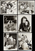 """Movie Posters:Miscellaneous, Edward G. Robinson in Big Town and Others Lot (CBS, 1941). Photos(9) (Approx. 8"""" X 10""""). Miscellaneous.. ... (Total: 9 Items)"""