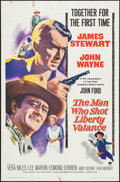 "Movie Posters:Western, The Man Who Shot Liberty Valance (Paramount, 1962). One Sheet (27""X 41""). Western.. ..."