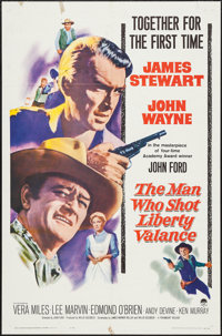 "The Man Who Shot Liberty Valance (Paramount, 1962). One Sheet (27"" X 41""). Western"