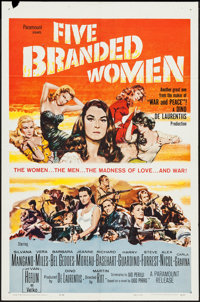 """Five Branded Women & Other Lot (Paramount, 1960). One Sheets (2) (27"""" X 41""""). War. ... (Total: 2 Items..."""