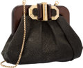 "Luxury Accessories:Accessories, Judith Leiber Metallic Black Stingray Evening Bag. ExcellentCondition. 7.5"" Width x 5.5"" Height x 4"" Depth. ..."