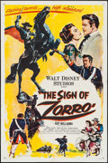 "Movie Posters:Adventure, The Sign of Zorro (Buena Vista, 1960). One Sheet (27"" X 41"").Adventure.. ..."