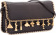 """Judith Leiber Brown Karung Clutch Bag with Gold Charms Very Good Condition 7"""" Width x 4"""" Height x 2"""" Dept..."""
