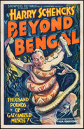 "Movie Posters:Adventure, Beyond Bengal (Showmens Pictures, 1934). One Sheet (27"" X 41"").Adventure.. ..."