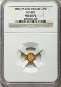 California Fractional Gold: , 1880/76 25C Indian Round 25 Cents, BG-885, R.3, MS65 Prooflike NGC.NGC Census: (6/3). ...