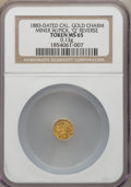 California Gold Charms, 1883-Dated Miner with Pick, Q Reverse, MS65 NGC. 0.13 gm....