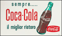 "Coca-Cola, Il Miglior Ristoro (Coca-Cola Co., 1961). Italian Advertising Poster (26.75"" X 45.25""). Miscellaneo..."