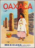"Movie Posters:Miscellaneous, Oaxaca (Mexicana Airlines, 1960s). Travel Poster (27"" X 36.75""). Miscellaneous.. ..."