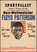 "Movie Posters:Sports, Floyd Patterson at the Berlin Sportpalast (ARTI Organisation, 1960). Boxing Exhibition Tournament Poster (19.5"" X 27.75""). S..."