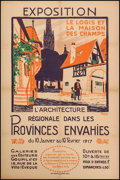 """Movie Posters:Miscellaneous, Exposition: Regional Architecture in the Invaded Provinces (Paris:Cornille & Greenhouse, 1917). French Affiche (31.5"""" X 47...."""