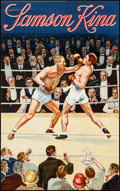 "Movie Posters:Miscellaneous, Samson Kina Boxing (c. 1920s). Trimmed Belgian (18.75"" X 30.25"").Miscellaneous.. ..."