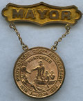 Expositions and Fairs, 1886 Founding of Providence Celebration Mayoral Gold Medal. 14carat gold, 17.1 gm. Produced by Charles F. Irons, an emblem ...