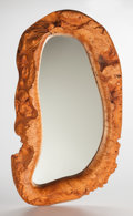 Furniture, American School (20th Century). Mirror, circa 1960. Burl maple, mirrored glass. 28 inches high (71.1 cm). ...
