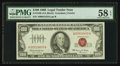 Small Size:Legal Tender Notes, Fr. 1550 $100 1966 Legal Tender Note. PMG Choice About Unc 58 EPQ.. ...