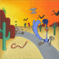 "Animation Art:Production Drawing, Sundown Rundown by Dave Hausman, Acrylic on canvas, 12"" x12"" ..."