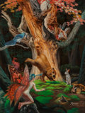 Pulp, Pulp-like, Digests, and Paperback Art, Rowena Morrill (American, b. 1944). Martin Bears and Friendsoriginal illustration, 1997. Acrylic on board. 24 x 18.5 in...