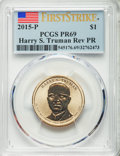Proof Presidential Dollars, 2015-P $1 Reverse Proof Harry S. Truman, First Strike, PR69 PCGS. This lot also includes a: (2015) Harry S. Truman Presi... (Total: 2 coins)