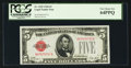 Small Size:Legal Tender Notes, Fancy Serial Number B97979737A Fr. 1525 $5 1928 Legal Tender Note. PCGS Very Choice New 64PPQ.. ...