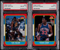 Basketball Cards:Lots, 1986 Fleer Basketball Patrick Ewing & Karl Malone PSA GradedDuo (2)....