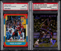Basketball Cards:Lots, 1986 Fleer Basketball Akeem Olajuwon PSA Mint 9 With PSA/DNA Signed1994 Score Board (2)....