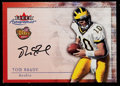 Football Cards:Singles (1970-Now), 2000 Fleer Autographics Tom Brady Rookie Autograph....