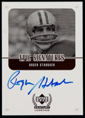 Football Cards:Singles (1970-Now), 1999 UD Century Legends Epic Signatures Roger Staubach #RS....